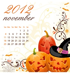 calendar for 2012 november vector image