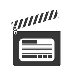 cinema clapboard icon vector image vector image