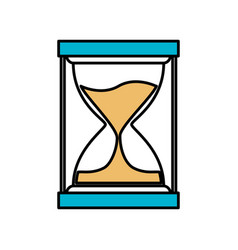 color sections silhouette of sand clock icon vector image vector image