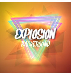 Colorful Neon Style Abstract Explosion Background vector image vector image