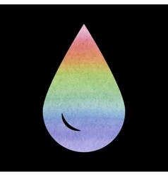 Drop of water - icon isolated watercolor vector