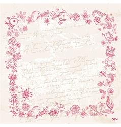 frame ink2 vector image vector image