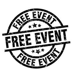 Free event round grunge black stamp vector