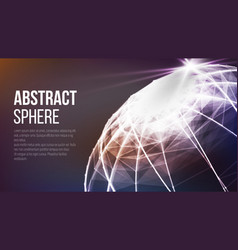 Futuristic earth globe abstract technology vector