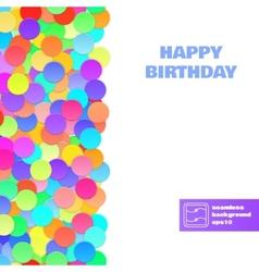 Happy birthday confetti seamless pattern vector