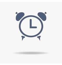 Icon alarm clock flat design vector image vector image