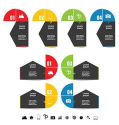 infographic with symbol set in color art vector image