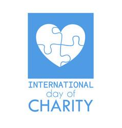 International charity day vector