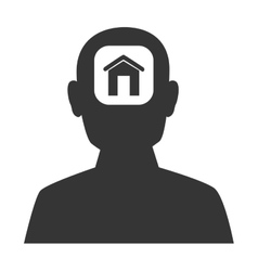 Male profile silhouette icon vector image