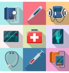 Medical devices set Tonometer phonendoscope vector image vector image