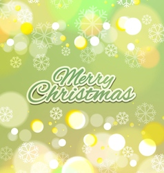 Merry christmas with snowflakes background vector