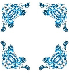 ornate winter frame vector image