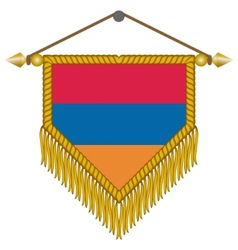 Pennant with the flag of armenia vector