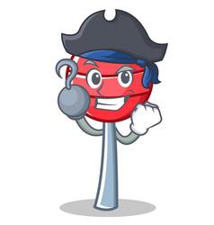 Pirate sweet lollipop character cartoon vector