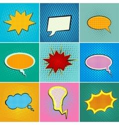 pop art speach bubbles vector image