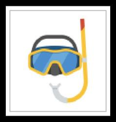 Scuba diving mask vector