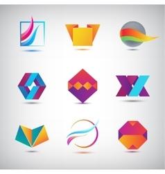 Set of abstract logos icons minimal vector