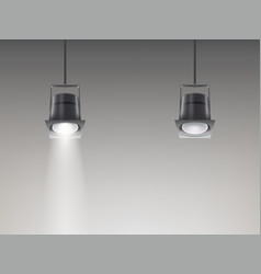 Set of of ceiling lamps vector