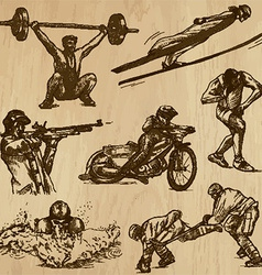 Sport collection no 7 - hand drawn vector