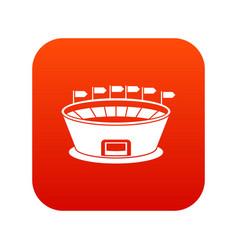 stadium icon digital red vector image