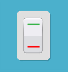 toggle switch electric control concept vector image vector image