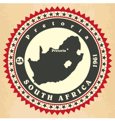 Vintage label-sticker cards of south africa vector