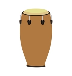Single conga icon vector