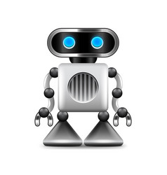 Robot with triangular legs isolated on white vector