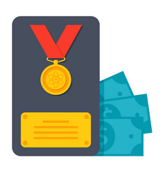 Scientific prize icon vector