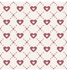 Abstract seamless pattern with hearts vector