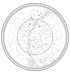 Astronomical celestial map vector