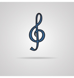 A blue clef isolated on grey vector