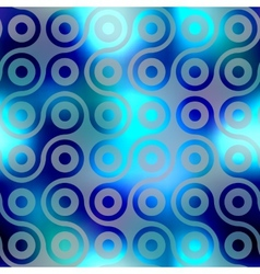 Pattern of blurred connected balls vector