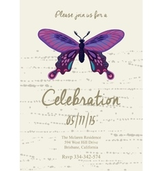 Invitation card for wedding birthday and holiday vector