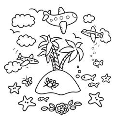vacation design elements vector image