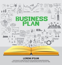Business plan background vector