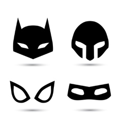 Super hero icons set vector image