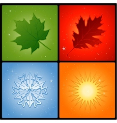 four seasons background vector image