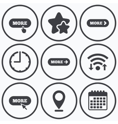 More with cursor pointer icon details symbols vector
