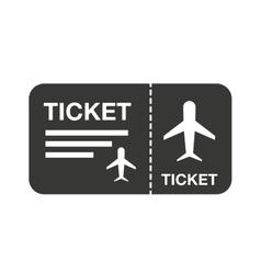 Flight ticket isolated icon design vector
