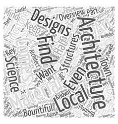 Architecture overview word cloud concept vector