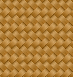 Cane woven fiber seamless pattern vector