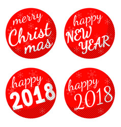 christmas and 2018 new year holiday themed vector image vector image