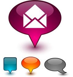 E-mail speech comic icons vector