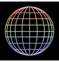 Earth globe - icon watercolor effect vector