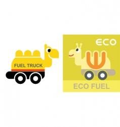 eco fuel vector image vector image