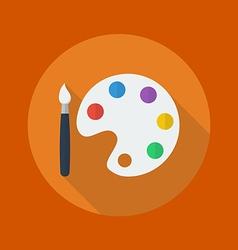 Education Flat Icon Art palette vector image vector image