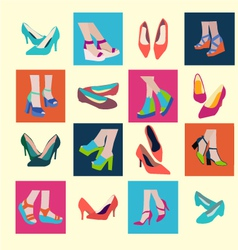 flat shoes Spring and Summer Shoes vector image vector image