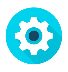 gear wheel flat circle icon vector image