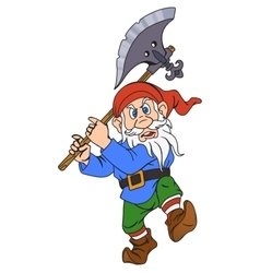 Gnome with a halberd vector